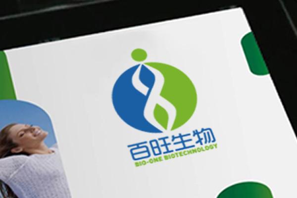 百旺生物logo标志商标设计