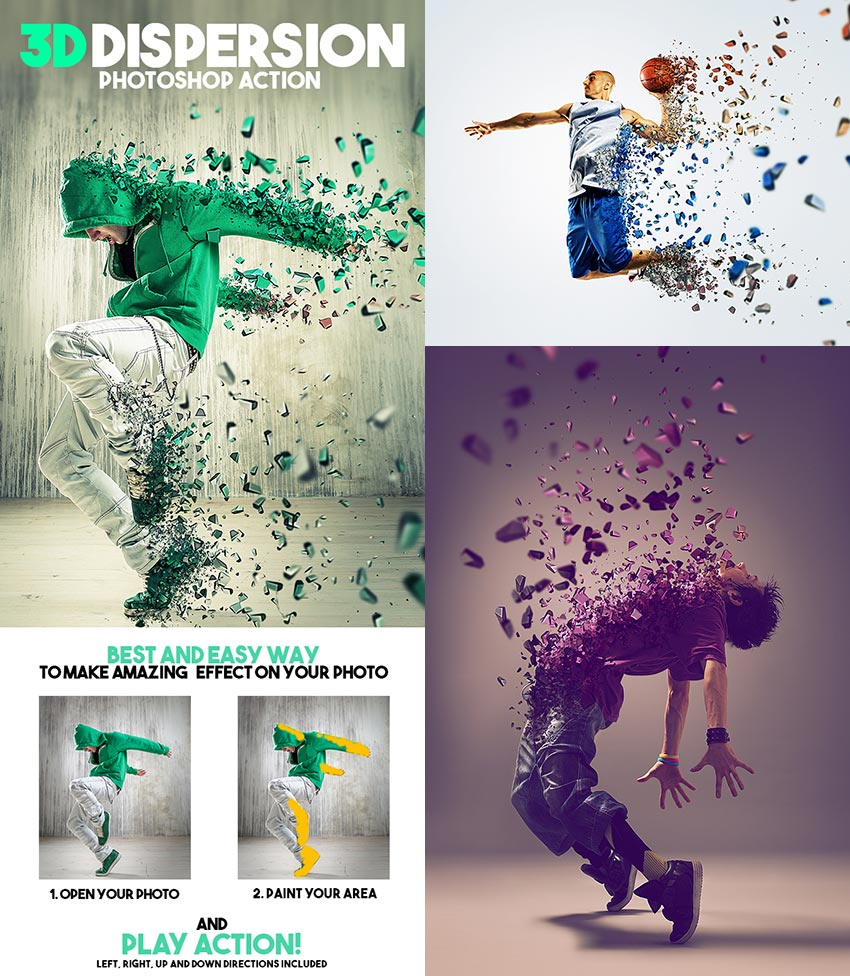 3D Dispersion PSD Photo Effect Action